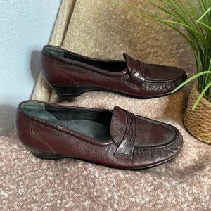 SAS tripad comfort brown loafer shoes 10 N